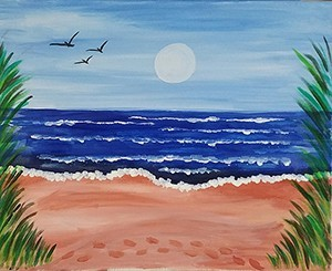 Jersey Footprints Acrylic Painting on Canvas Art Kit