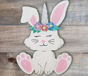 Spring Uni-Bunny Art Board Kit - Etched and Ready to Paint