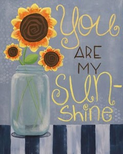 You are my Sunshine Canvas Acrylic Painting on Canvas Art Kit
