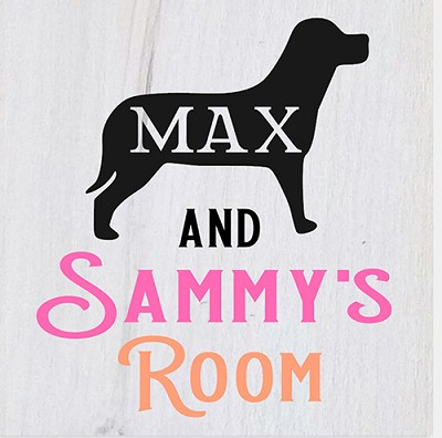 Personalized:  Kids & Dog Room  12 x12