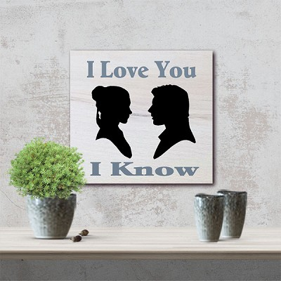 "Classic:  I Love you I Know 12"" x 12"""
