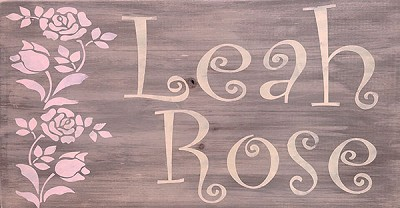 Classic:  Personalized:  Girls Name with Roses 18 x 10