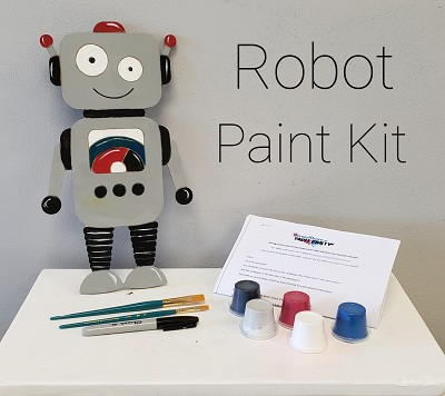 Robot Art Board Kit - Etched and Ready to Paint