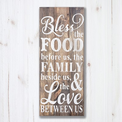 DIY Pallet:  Bless the food before us, The Family Beside us, and the Love between us