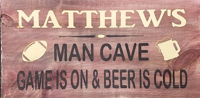 Personalized:  Man Cave Sign