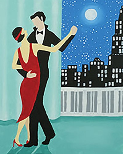 Dancing Duo Acrylic Painting on Canvas Art Kit