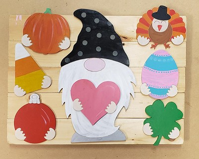Seasonal Gnome with Set of 8 Shapes