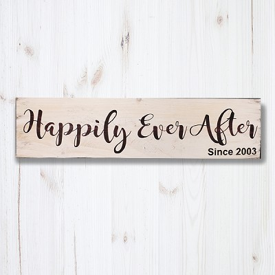 Personalized:  Happily ever After Since XXXX - 24 x 6