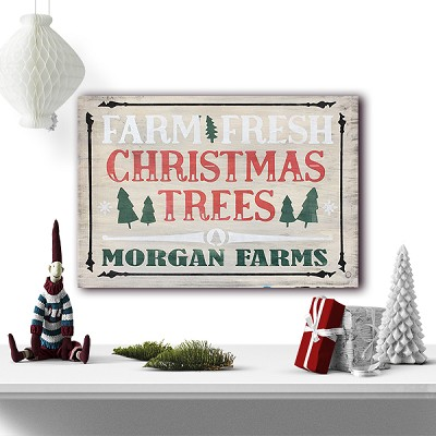 Classic:  Personalized:  Farm Fresh Christmas Trees 12 x 16