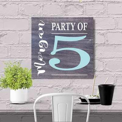 Personalized:  PARTY OF.... 12 x12