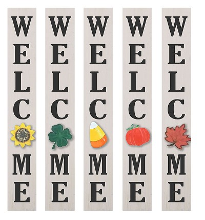 Specialized :  Welcome Porch Sign with 4 Seasonal Shapes