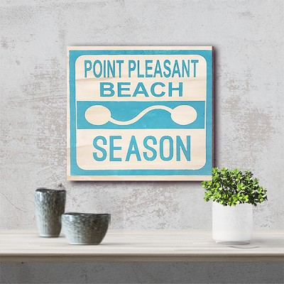 Classic:  Pt Pleasant Beach Season Badge 12 x 12