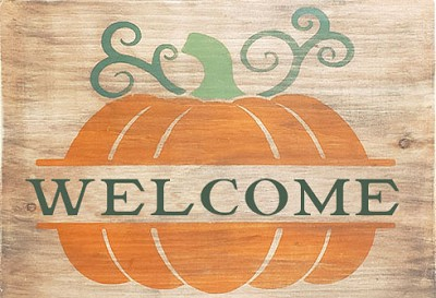 Classic:  Welcome Pumpkin 16 x 12