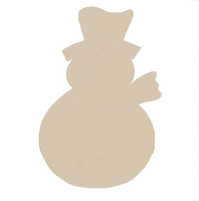 "Snowman 6"" Paintable MDF Shape"