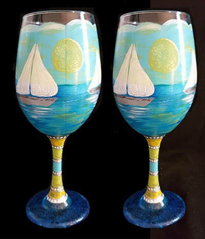Twin Sails Glasses - Set of 2