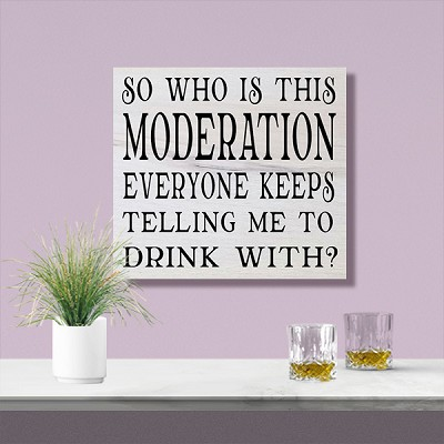 Classic:  So Who is this Moderation everyone keeps telling me to Drink with?